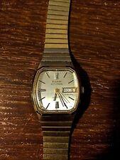 Vintage1979Bulova Accutron 10K Gold Filled Day Date Watch Quartz Swiss w/9 dias