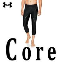 "MEN UNDER ARMOUR CORE LEGGINGS ""X BAND"" 3/4 COMPRESSION BLACK 1332079-001 MEDIUM"
