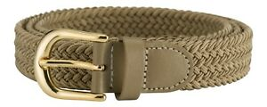 """Streeze Ladies Stretch Belt 1"""" Wide with Gold Buckle Elasticated Fabric Weave"""