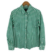 Gant Womens Blouse Top Size 16 Green Plaid Long Sleeve Button Closure Collared