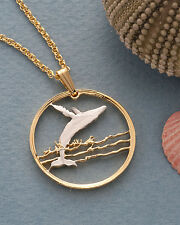 "Humpback Whale Pendant & Necklace Canada 50 Cents 1""diameter ( # 677)"