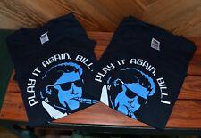 Lot of 2 Vintage 2004 President Bill Clinton Book Tour T-Shirt  Play it Again L