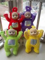 "4PC Teletubbies Po, Dipsy, Laa Laa, And Tinky Winky 10"" Plush Dolls"