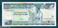 ~ Etiopia 5 BANCONOTA birr-P47 - 2013 ~