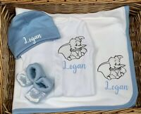 SPECIAL OFFER  Dumbo Baby Sleepsuit Babygrow, Hat, Booties, Blanket Disney