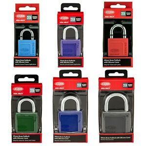 Lockwood 120N series Padlock Brass with Silicone Cover - All Sizes and Styles