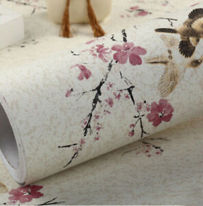 Plum Blossom Wallpaper Vintage Peel and Stick Contact Paper Self Adhesive  Home