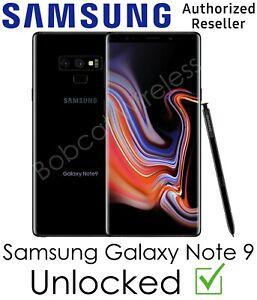 Samsung Galaxy Note 9 N960U Black Cricket AT&T Sprint T-Mobile Verizon Unlocked