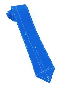 "ACME Studio Drafting Blueprint Blue Tie 100% Silk by Adrian Olabuenaga 4"" x 58"""