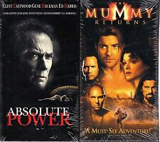 Absolute Power  & The Mummy Returns - 2 NEW ACTION VHS