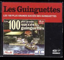 LES 100 PLUS GRANDS SUCCES DES GUINGUETTES   COFFRET 4 CDS