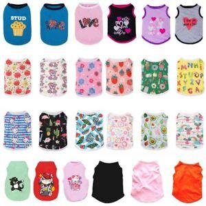 Cartoons Pet Puppy Small Dogs Cat Pet Clothes Dress Vest T-shirt Apparel Clothes