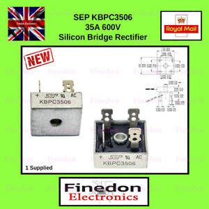 SEP KBPC3506 35A 600V Bridge Rectifier Single Phase UK Seller