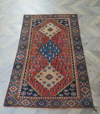 More details for a fabulous old handmade kars turkish wool on wool rug (150 x 95 cm)