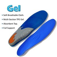 Arch Support Insoles Cushioned Gel Shoe Orthotic Inserts Foot Heel Pain Relief