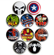 Marvel Comics - Marvel Superhelden - Hulk Spider-Man Thor - Buttons - 10er Set