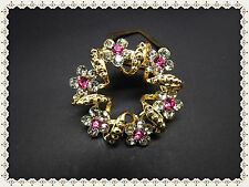 Beautiful Scarf Ring,Diamante,Rhinestone,Brooch,Gift,Sparkling,Buckle Style,Gems
