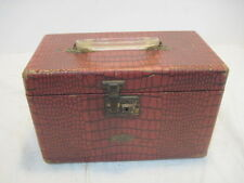 OLD VINTAGE GADABOUT SUITCASE BY NEEVEL LUGGAGE COSMETICS TRAIN CASE