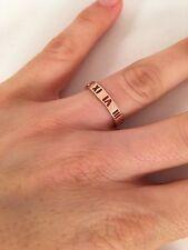Tiffany & Co 18K Rose Gold Diamonds Atlas Pierced Band Ring. Size 6. RRP $1450