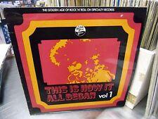 This Is How It All Began Vol 1 LP Specialty EX [Blues John Lee Hooker Gospel]