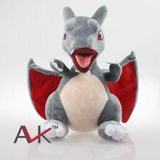 "Pokemon Black Mega Charizard 13"" Plush Stuffed Animal Dragon Toy"