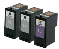 3pk For Lexmark 34 35 Ink For X2500 X2530 X2550 X3530 X3550 X4530 X4550