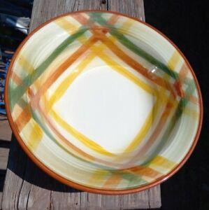 Vintage Vernonware Homespun Vegetable Serving Bowl 8 3/4'