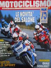 Motociclismo n°11 1989 Test BMW K1 1000 - Suzuki TS 125 R - Suzuki Gs 500 [GS49]
