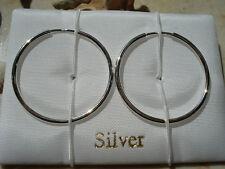 Creolen Sterling Silver, nickelfrei, glänzend, Ø 30 mm