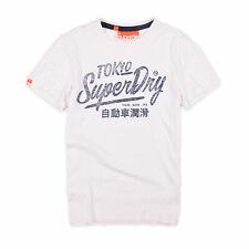 Superdry Herren T-Shirt Shirt Classic Gr.M (wie S) Tokyo Vintage Weiß 90944