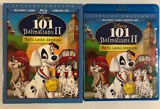 DISNEY 101 DALMATIANS II PATCHS LONDON ADVENTURE BLU RAY DVD + RARE SLIPCOVER