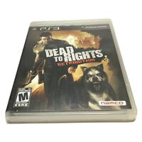 Dead to Rights: Retribution (Sony PlayStation 3, 2010) Complete PS3