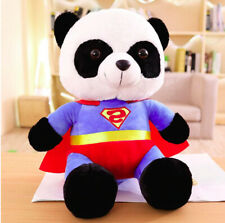 Superman Panda Stuffed Animal Cute Superman Cartoon Plush Soft Doll For Kid 25cm