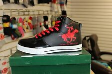 Men's Beverly Hills Polo Club BMS431 Blk/Ptnt/Red Sneakers Brand New in Box