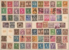 (U48-87) 1908-20s USA mix of 73stamps 1c to 50c (CL)
