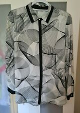 Marks And Spencer M&S Size 18 Black And White Blouse Charity Auction NEW