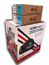 Dish Network King Tailgater Bundle Portable Satellite VQ4500 w 2 Wally Recievers