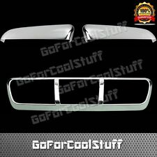 For 09-14 Ford F-150 Upper Tophalf Mirror+Third Brake Light Chome Abs Covers