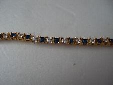 "Blue and white sim diamond gold bracelet 7""  DAD330"