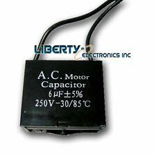 6UF 250V Motor Start Run Fan Capacitor 2 Wire
