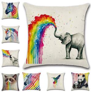 "17/""x17/"" Elephant Design Cushion Cover 45cm x 45cm FREE POSTAGE"