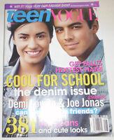 Teen Vogue Magazine Demi Lovato & Joe Jonas August 2010 082114R