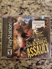 Playstation PS1 Backstage Assault WCW Black Label Wrestling New Sealed