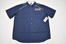 $52 NWT Mens Ecko Unltd Button Down Shirt Trooper Woven Navy Urban 2XB 2X N441