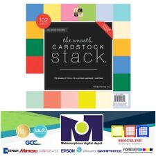 """DCWV SinGle Sided STACK CARDSTOCK 12""""x12"""" (102 SHEETS) CS-010-00001 Smooth Solid"""