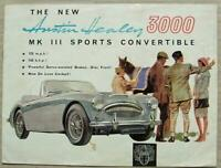 AUSTIN HEALEY 3000 MK III SPORTS CONVERTIBLE Car Sales Brochure c1964 #2035/G