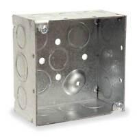 "RACO 232 Electrical Box, Square, 4"" x 4"" x 2"", 30.3 cu. in., 2 gang"