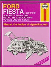 Manuel d'entretien et réparation auto Ford Fiesta essence  1983 à 1989  Haynes