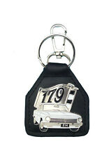 Holden,  EH Sedan  White 179 Boot Badge  Real leather Keyring