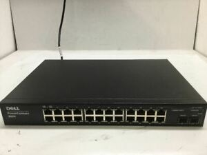 Dell PowerConnect 2824 24 Port Ethernet Network Managed Switch w/ Power Cable